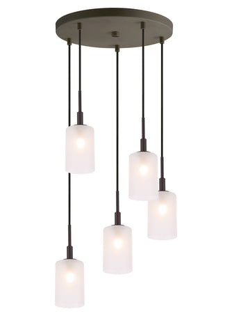 Woodbridge Lighting 21025BRZ-C10455 Elise 5-light Cluster Pendant