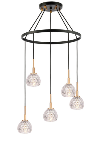 Woodbridge Lighting 21028CBZ-C00514 Elise 5-light Pendant Chandelier