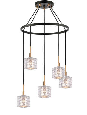 Woodbridge Lighting 21028CBZ-C80414 Elise 5-light Pendant Chandelier