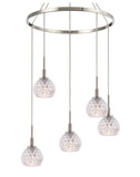 Woodbridge Lighting 21028STN-C00514 Elise 5-light Pendant Chandelier