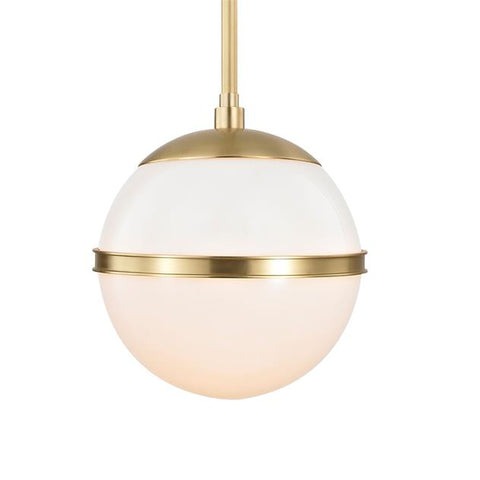 Brian Patrick Flynn for Crystorama Truax 1 Light Aged Brass Mini Chandelier