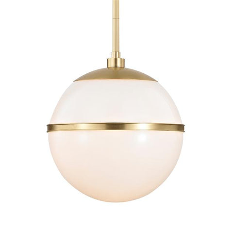 Brian Patrick Flynn For Crystorama Truax 2 Light Aged Brass Pendant