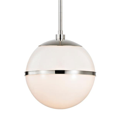 Brian Patrick Flynn For Crystorama Truax 2 Light Polished Nickel Pendant