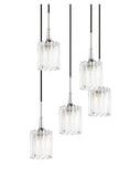 Woodbridge Lighting 21125CHR-C10490 Regent Park 5-light Cluster Pendant