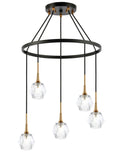 Woodbridge Lighting 21128CBZ-C30410 Regent Park 5-light Pendant Chandelier