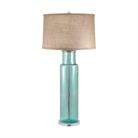 Lamp Works LAM-216B Recycled Glass Collection Blue Finish Table Lamp