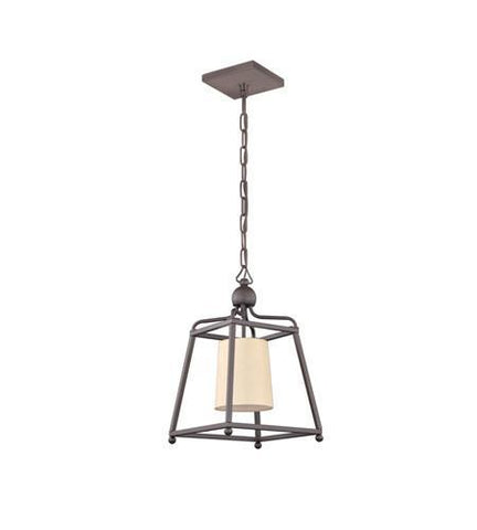 Crystorama 2240-DB Libby Langdon for Sylvan 1 Light Dark Bronze Pendant - PeazzLighting