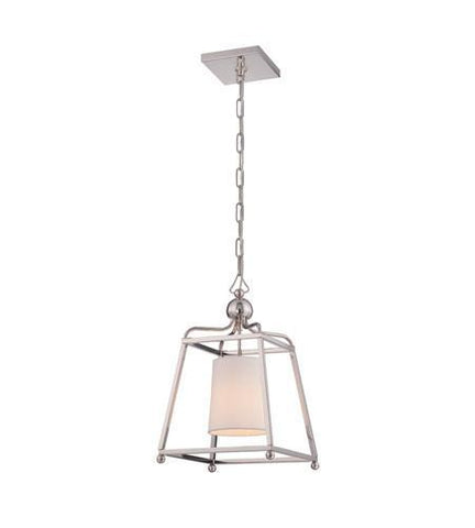 Crystorama 2240-PN Libby Langdon for Sylvan 1 Light Polished Nickel Pendant - PeazzLighting
