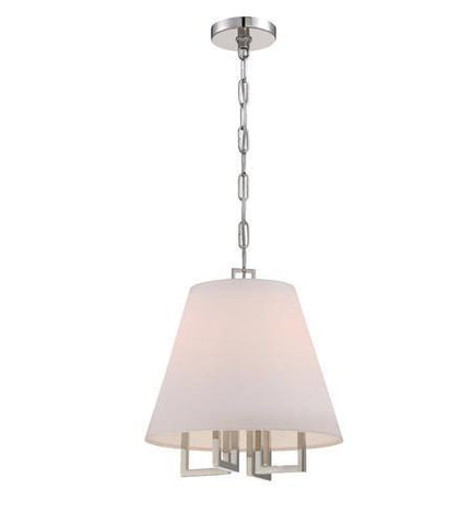 Crystorama 2254-PN Libby Langdon for Westwood 4 Lt Nickel Pendant - PeazzLighting