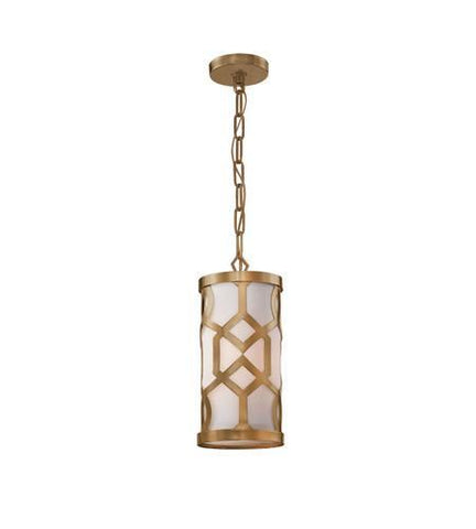 Crystorama 2260-AG Libby Langdon for Jennings 1 Light Aged Brass Pendant - PeazzLighting