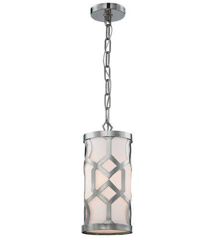 Crystorama 2260-PN Libby Langdon for Jennings 1 Light Polished Nickel Pendant - PeazzLighting
