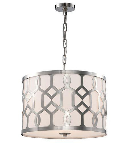 Crystorama 2265-PN Libby Langdon for Jennings 3 Light Polished Nickel Chandelier - PeazzLighting