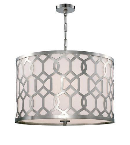 Crystorama 2266-PN Libby Langdon for Jennings 5 Light Polished Nickel Chandelier - PeazzLighting