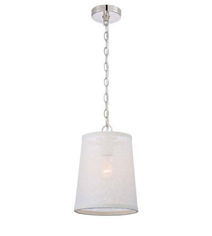 Crystorama 2290-PN Libby Langdon for Culver 1 Lt Polished Nickel Pendant - PeazzLighting