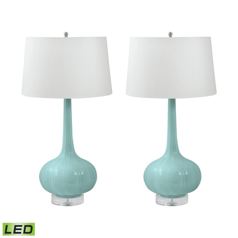 Lamp Works LAM-231/S2-LED Del Mar Collection Mint Finish Table Lamp