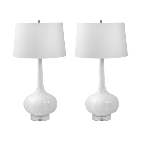 Lamp Works LAM-242/S2 Del Mar Collection White Finish Table Lamp