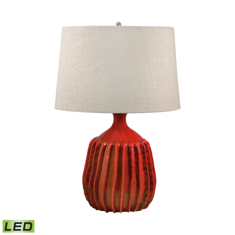 Lamp Works LAM-248-LED Terra Cotta Collection Tomato Red Finish Table Lamp