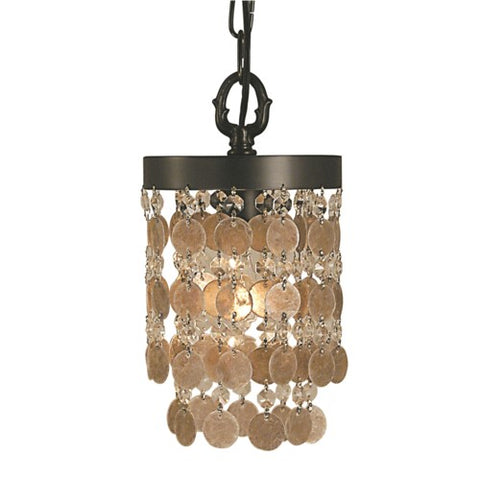 Framburg 2480-BN 1-Light Brushed Nickel Naomi Pendant