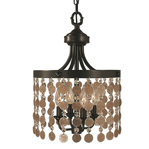 Framburg 2484-bn 4-light Brushed Nickel Naomi Mini Chande...