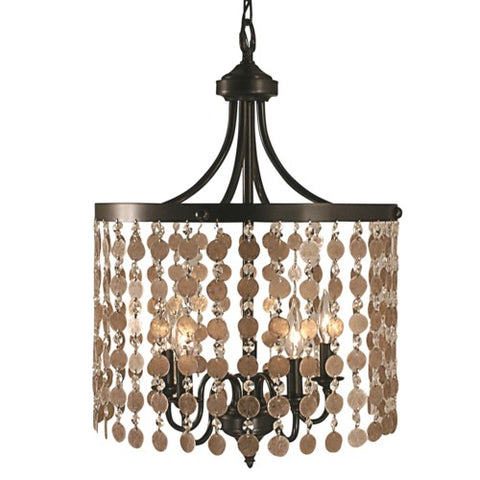 Framburg 2485-BN 5-Light Brushed Nickel Naomi Dining Chandelier
