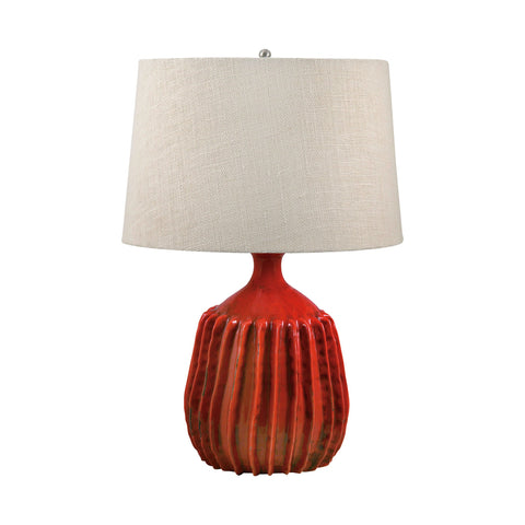 Lamp Works LAM-248 Terra Cotta Collection Tomato Red Finish Table Lamp