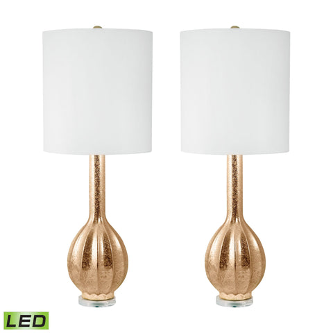Lamp Works LAM-252/S2-LED Glam Collection Gold Finish Table Lamp