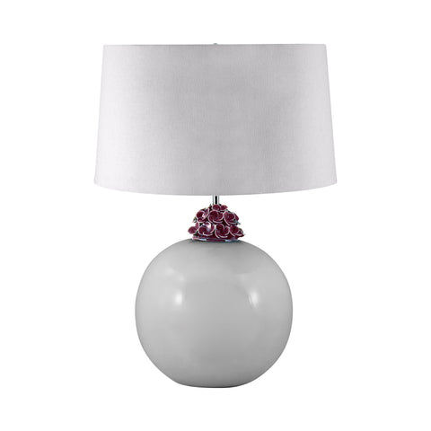 Lamp Works LAM-271 Ceramic Collection White Finish Table Lamp