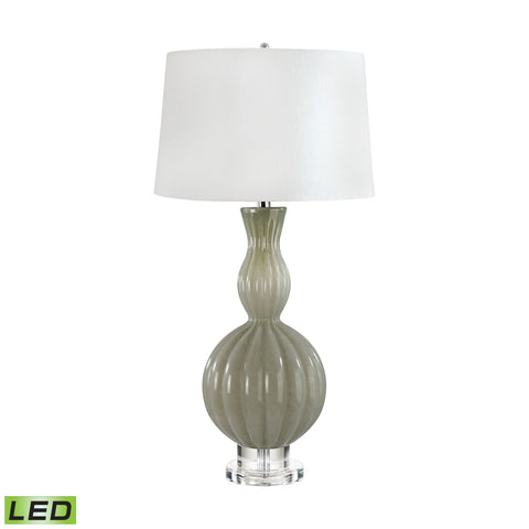 Lamp Works LAM-282-LED Glass Gourd Collection Taupe Finish Table Lamp