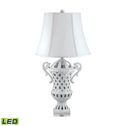 Lamp Works LAM-285-LED Ceramic Collection Porcelain Finish Table Lamp