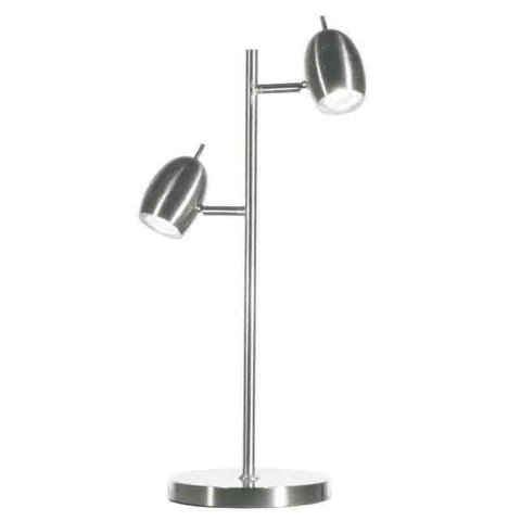 Dainolite 285T-SC 2LT Table Lamp Adjustable, SC