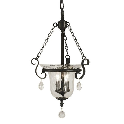 Framburg 2917-MB 3-Light Mahogany Bronze Carcassonne Foyer Chandelier