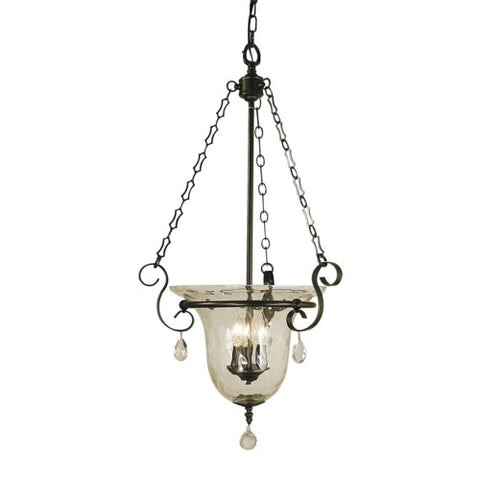Framburg 2919-MB 3-Light Mahogany Bronze Carcassonne Foyer Chandelier