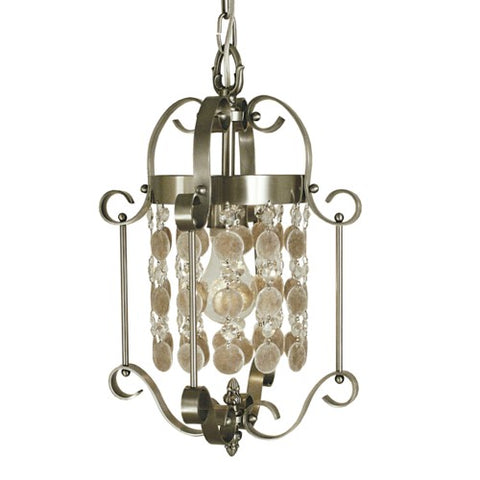 Framburg 2921-BN 1-Light Brushed Nickel Naomi Mini Chandelier