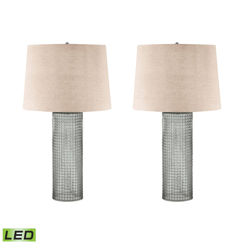 Lamp Works LAM-292/S2-LED Glass Collection Glass Finish Table Lamp