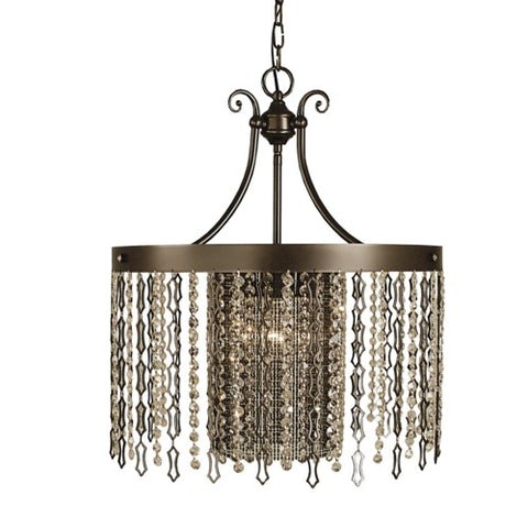 Framburg 2958-MB 4-Light Mahogany Bronze Penelope Dining Chandelier