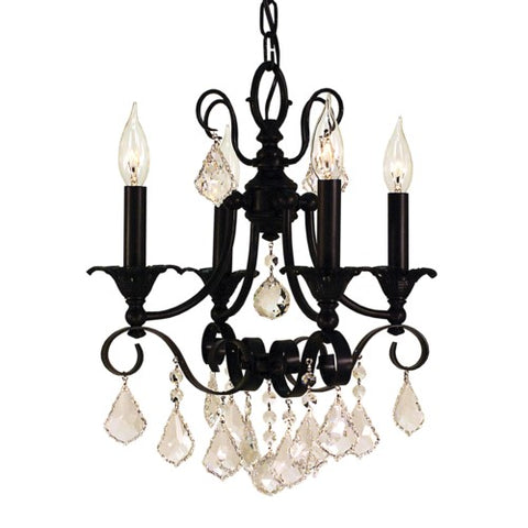 Framburg 2974-BN 4-Light Brushed Nickel Liebestraum Mini Chandelier