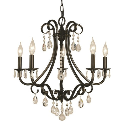 Framburg 2995-MB 5-Light Mahogany Bronze Liebestraum Dining Chandelier