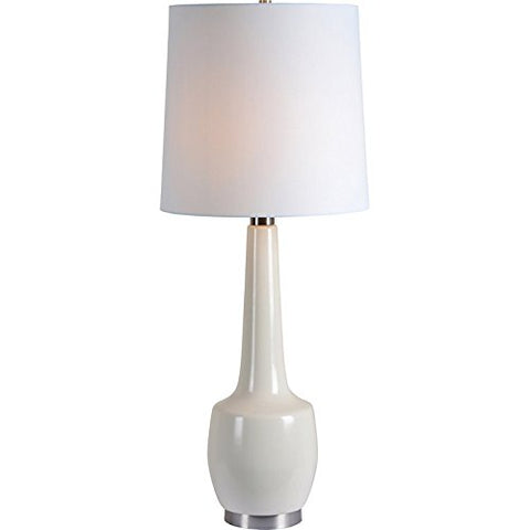 Renwil New Traditional Kirkgate Table Lamp in Cream Crackle