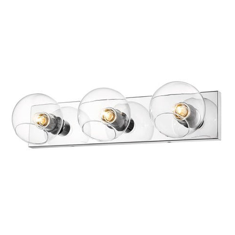 3-Light Wall Sconce in Chrome Finish
