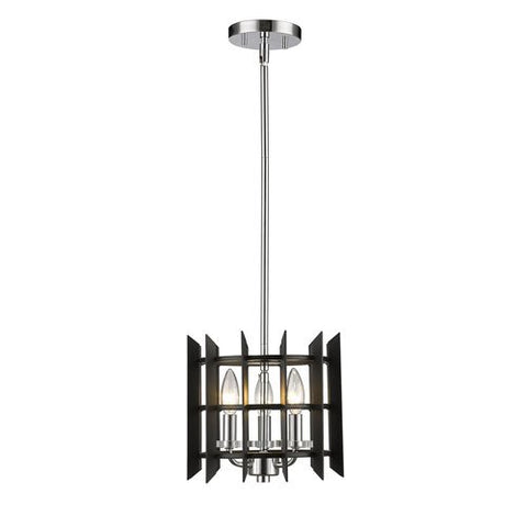 3-Light Mini Pendant in Chrome Finish