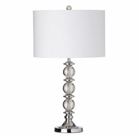 Dainolite C39T-PC 1LT Table Lamp Crystal Balls w/Wht Shd
