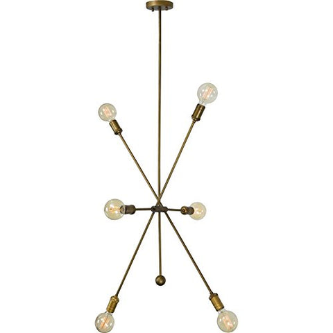 Renwil New Traditional Leonis 8 Light Pendant in Antique Brass