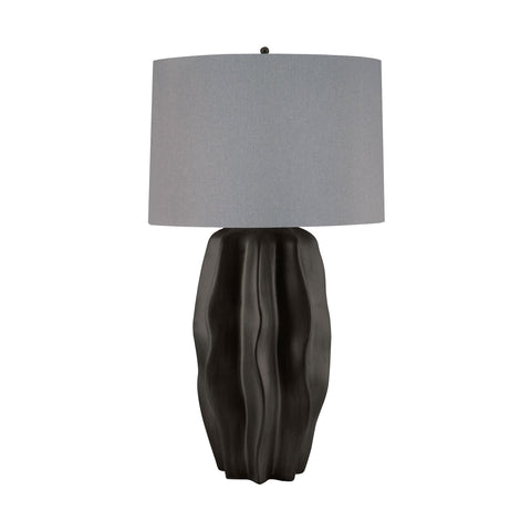 Lamp Works LAM-340 Ceramic Collection Dark Taupe Finish Table Lamp