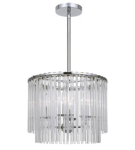 Crystorama 394-CH Bleecker 4 Light Polished Chrome Chandelier - PeazzLighting
