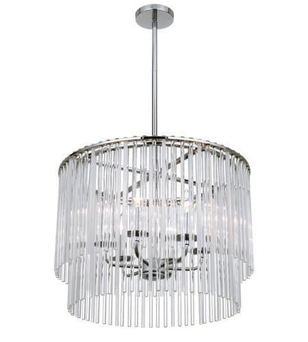 Crystorama 396-CH Bleecker 6 Light Polished Chrome Chandelier - PeazzLighting