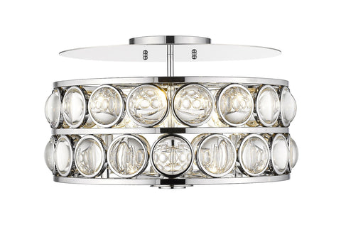 Z-Lite 4004-18CH Eternity Collection 5 Light Flush Mount Chrome Finish