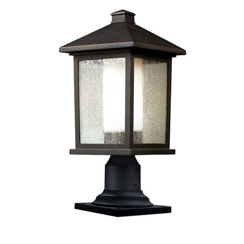 "Mesa 1 Light Outdoor Post Lantern Size: 17.75"" H x 8"" W"
