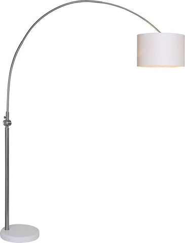 Renwil Modern Glamour Cassell Floor Lamp in Brushed Nickel