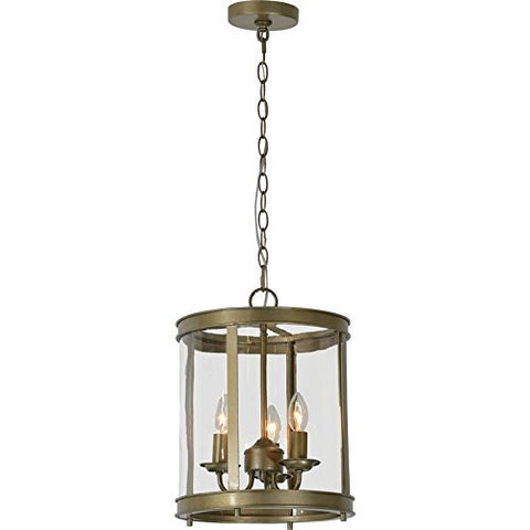 Renwil New Traditional Rowan 3 Light Cage Chandelier in Antique Silver