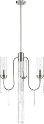 Z-Lite 433-3BN 3 Light Chandelier Siena Collection Clear Finish - ZLiteStore